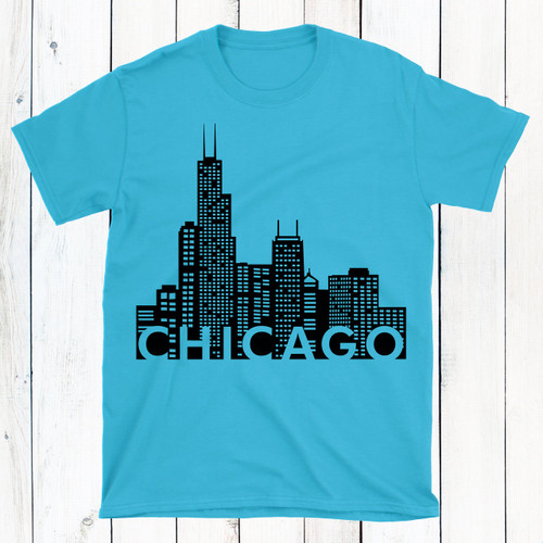 Personalized Chicago Skyline T-Shirt