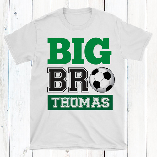 9458bc7c4cd Personalized Big or Little Brother Soccer Shirt