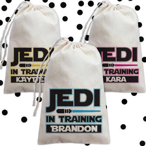 Personalized Party Favor Bag: Jedi In Training
