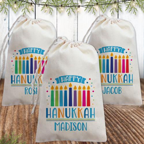 Personalized Hanukkah Gift Bag: Menorah Magic
