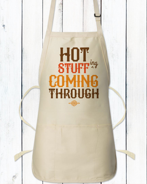 Hot Stuff Funny Thanksgiving Apron