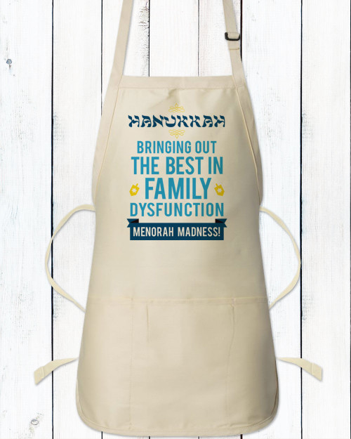 Personalized Family (Dys)Functions Apron: Hanukkah