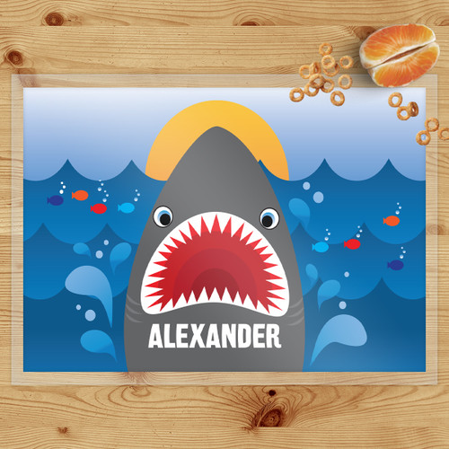 Personalized Shark Bait Laminated Placemat