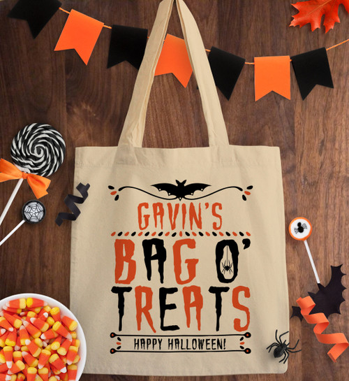 Personalized Creepy Crawly Trick Or Treat Bag
