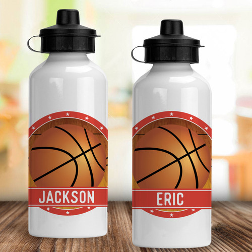 Personalized Water Bottle: Double Dribble Basketball