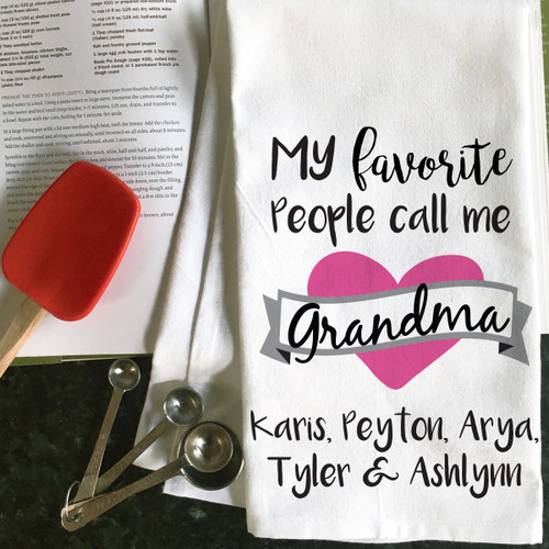 Personalized Grandma's Favorites Kitchen Towel