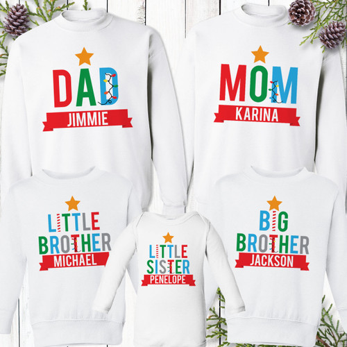 Personalized Banner Christmas Family Shirts and Sweatshirts