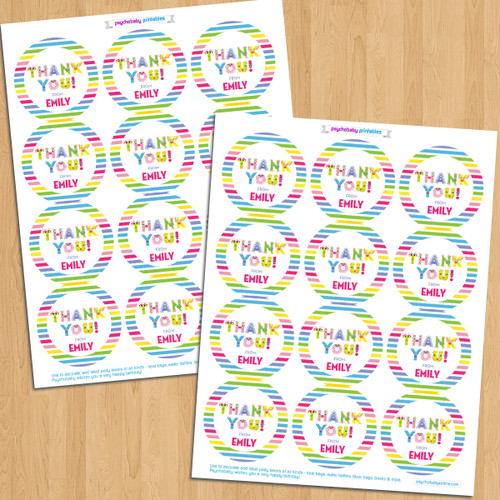 Personalized Party Favor Stickers: Beastly Babe Monster