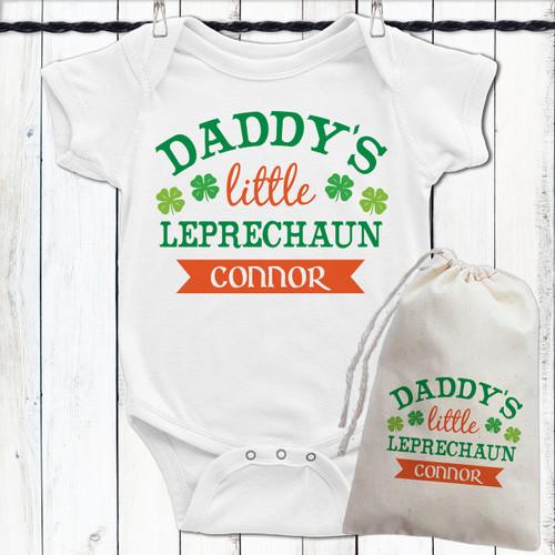 Personalized St. Patrick's Day Baby Shirts - Little Leprechaun