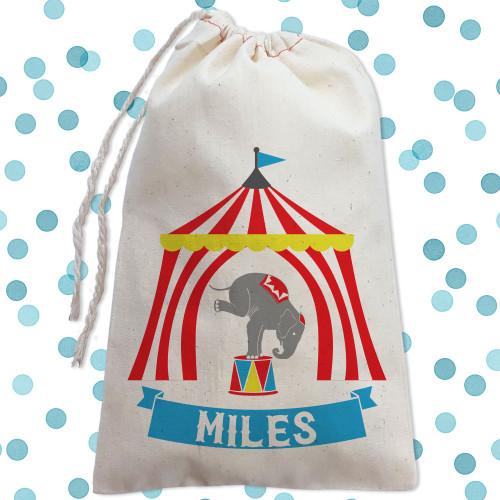 Personalized Party Favor Bag: Big Top Circus