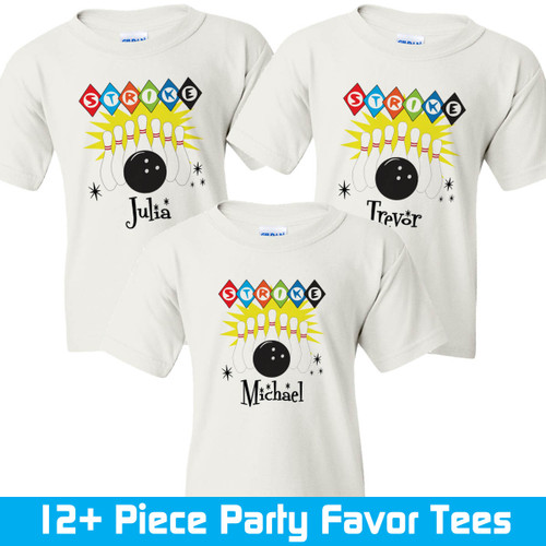 Personalized Bowling Party Favor T Shirts
