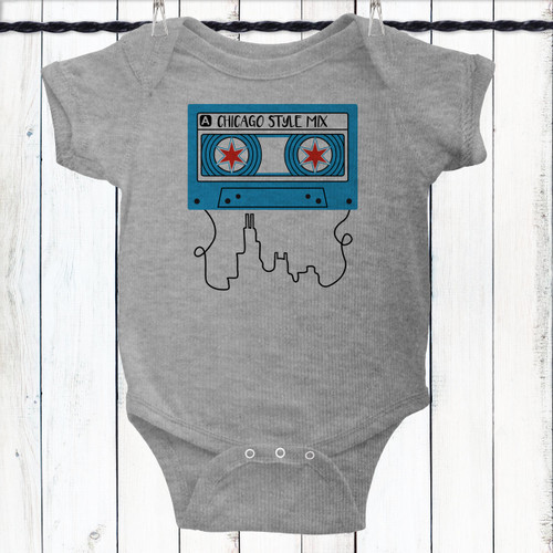 Personalized Chicago Mix Baby Shirt