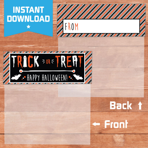 Printable Trick or Treat Ghosts & Ghouls Halloween Bag Toppers (Instant Download)