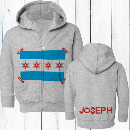 Personalized Chicago Punk Baby and Kids Zip-Up Hoodie Sweatshirt