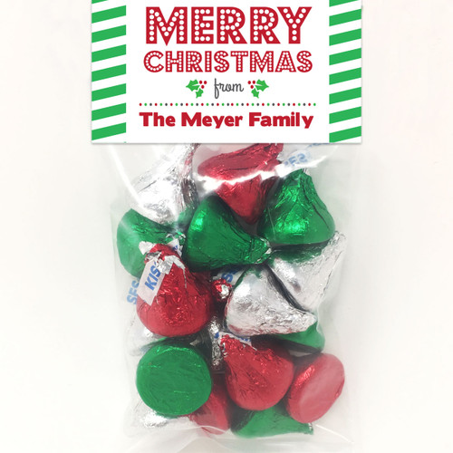 Personalized Classic Christmas Mini Favor Bag Kit