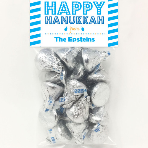 Personalized Happy Hanukkah Mini Favor Bag Kit