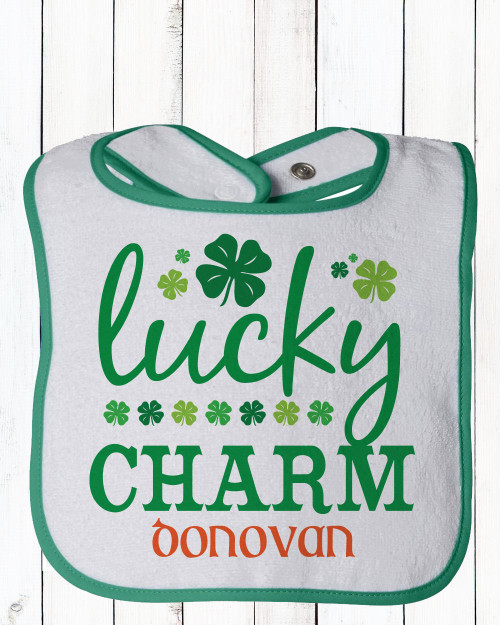 Personalized Lucky Charm St. Patrick's Day Bib