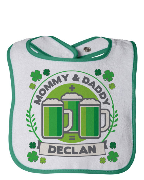 Personalized Green Beer St. Patrick's Day Bib