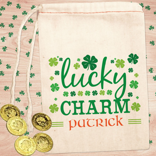 Personalized St. Patrick's Day Party Favor Bag: Lucky Charm