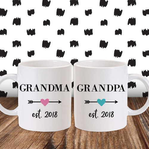 Grandma u0026 Grandpa Established Arrow Mugs  sc 1 st  Psychobaby & Gifts for Grandpas | Unique Gifts for New Grandfathers