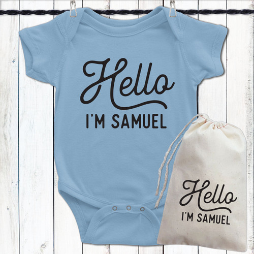 Personalized Hello Baby Shirt (More Colors!)