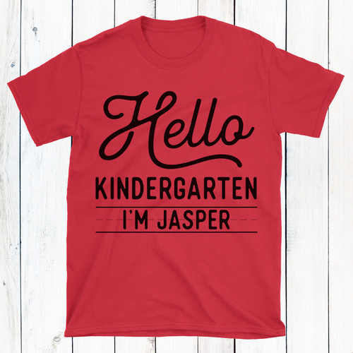 Personalized Hello Back to School T-Shirt