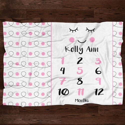 Personalized Baby Month Blanket: Miss Audrey