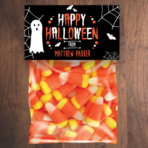 Personalized Happy Halloween Mini Favor Bag Kit