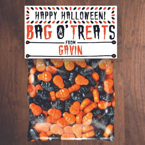 Personalized Bag O' Treats Halloween Mini Favor Bag Kit