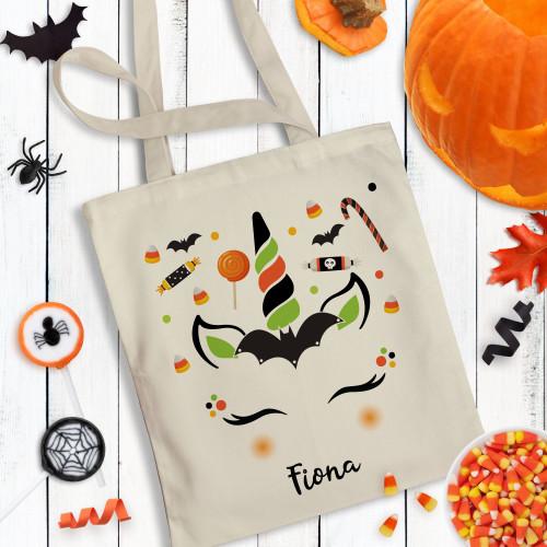 Personalized Halloween Unicorn Trick Or Treat Bag