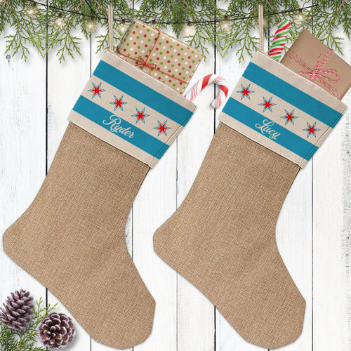 Personalized Christmas Stocking: Chicago Classic