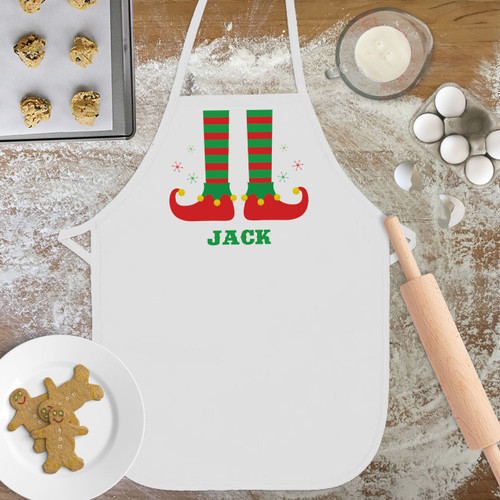 Personalized Lil' Elf Christmas Kid's Apron