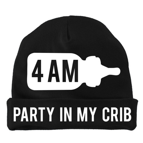 4 AM Party In My Crib Black Hat