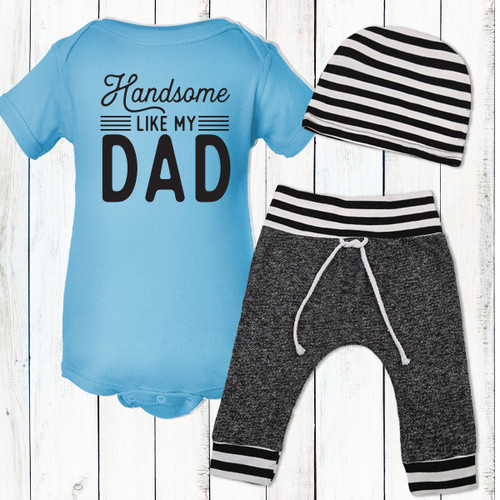 Personalized Handsome Like My Dad Gift Set