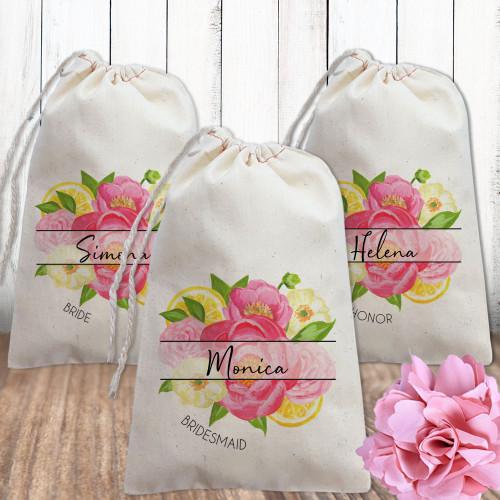Custom Canvas Favor Bags Summer Breeze
