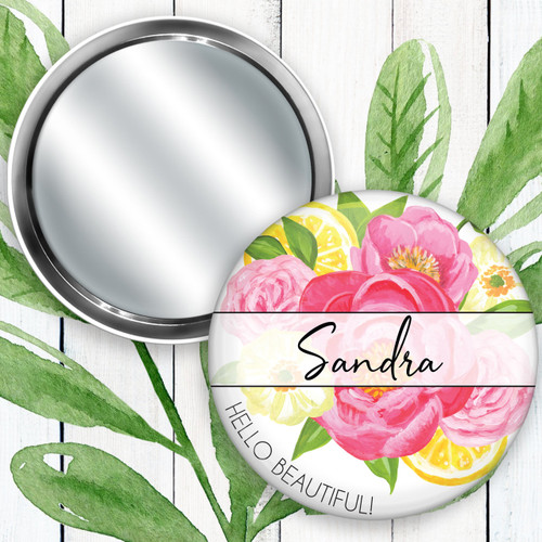 Personalized Summer Breeze Pocket Mirror