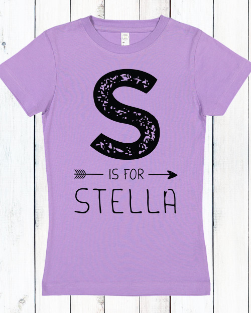 Personalized J is for Joy Girlie Shirt