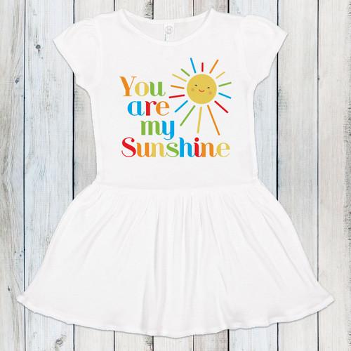 You Are My Sunshine Rainbow Dress