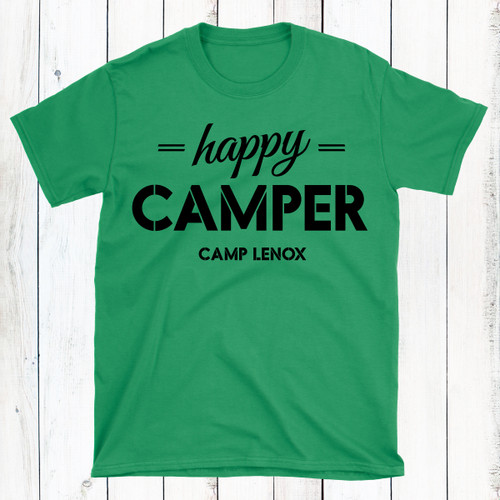 Personalized Happy Camper Boys Shirt
