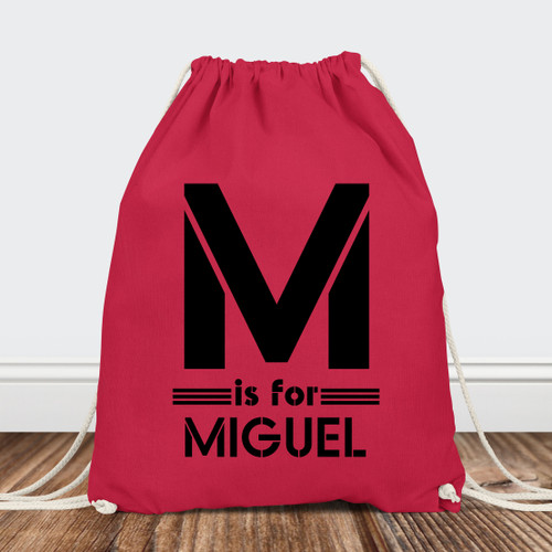 Personalized Drawstring Backpack: B Haus