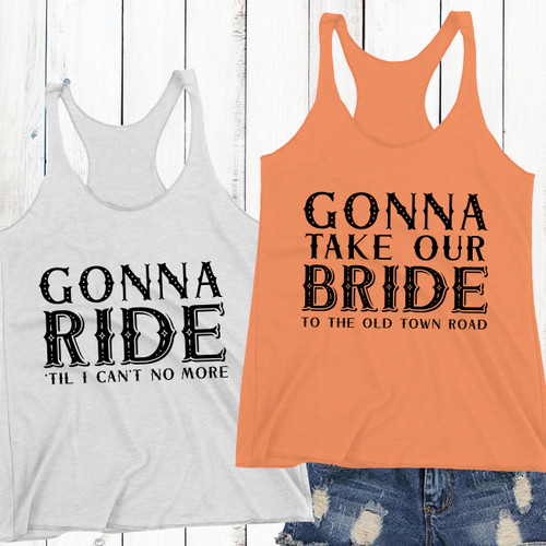 Old Town Road Racerback Tank Tops