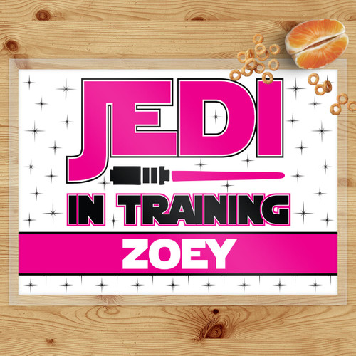 Jedi In Training Pink Laminated Placemat