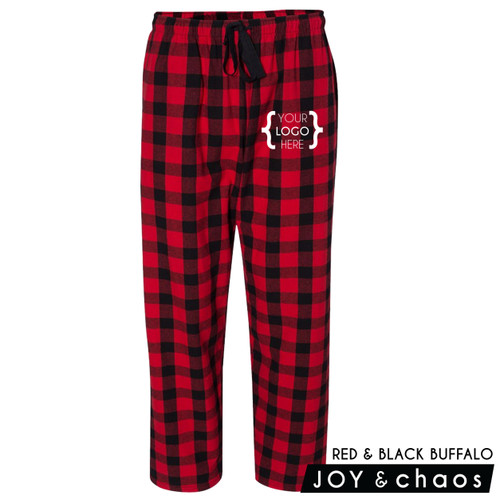 Custom Logo: Plaid Flannel Pants