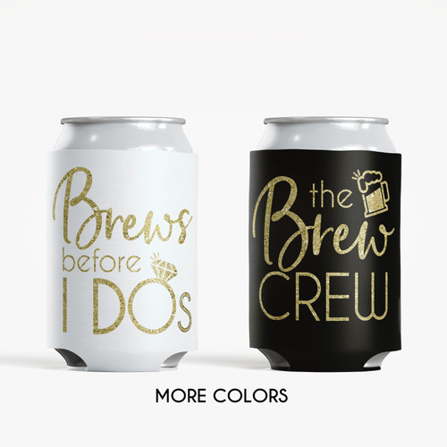 Colored Can Coolers: Brew Crew
