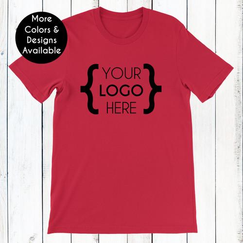 Custom Logo: Premium Unisex Jersey T-Shirt (Black Print Only)