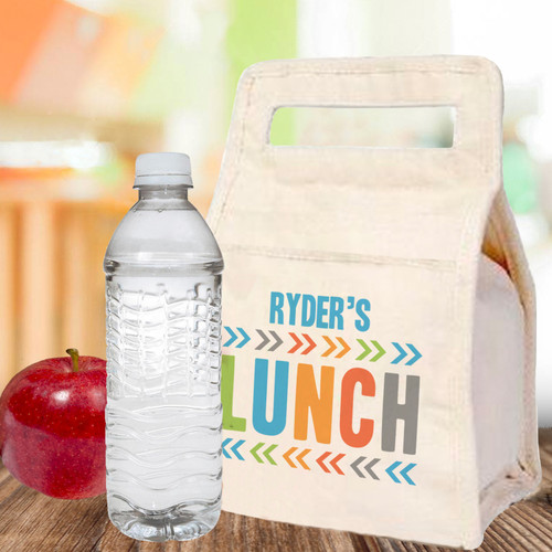 Personalized Canvas Lunch Bag: Chunky Chevron (Bold)
