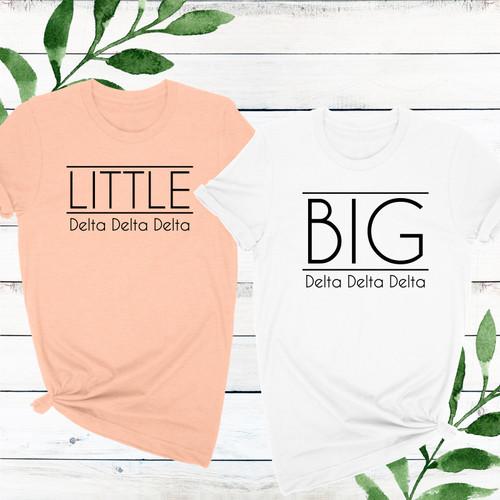 Custom City Chic Sorority Big & Little T-Shirt