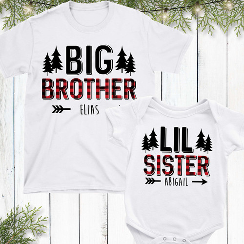 Personalized Perfectly Plaid Siblings Shirt