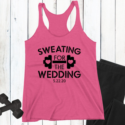 Personalized Sweating for The Wedding Tank Top