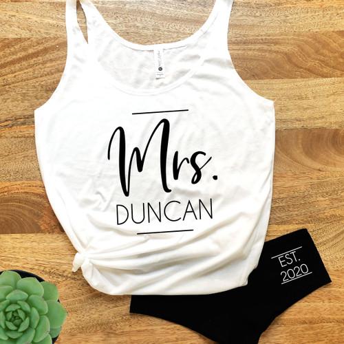 Personalized Future Mrs. Tank & Boy Shorts